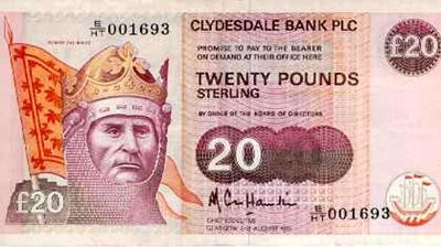 Believe it or not, Scottish banks actually mint their own banknotes already. The variations on the pound notes are legal tender in the United Kingdom. But will the secession force the creation of a brand new currency with an exchange rate different from the pound sterling? Or will Scotland take the simple option of using the Euro?
