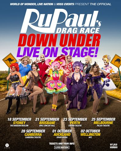 RuPaul's Drag Race Down Under Live On Stage tour dates.
