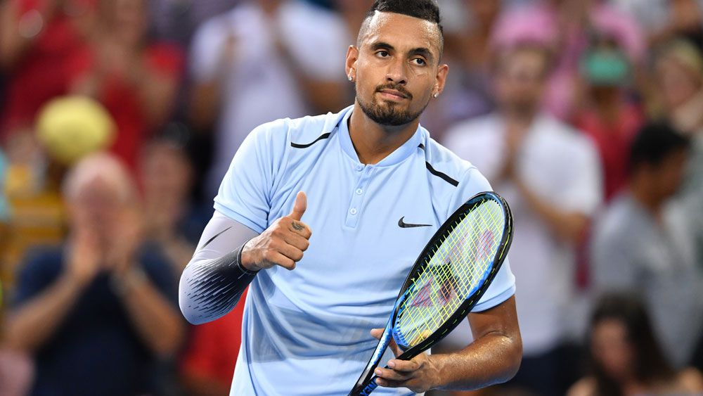 Nick Kyrgios said injury no issue in Brisbane International win over Ryan Harrison