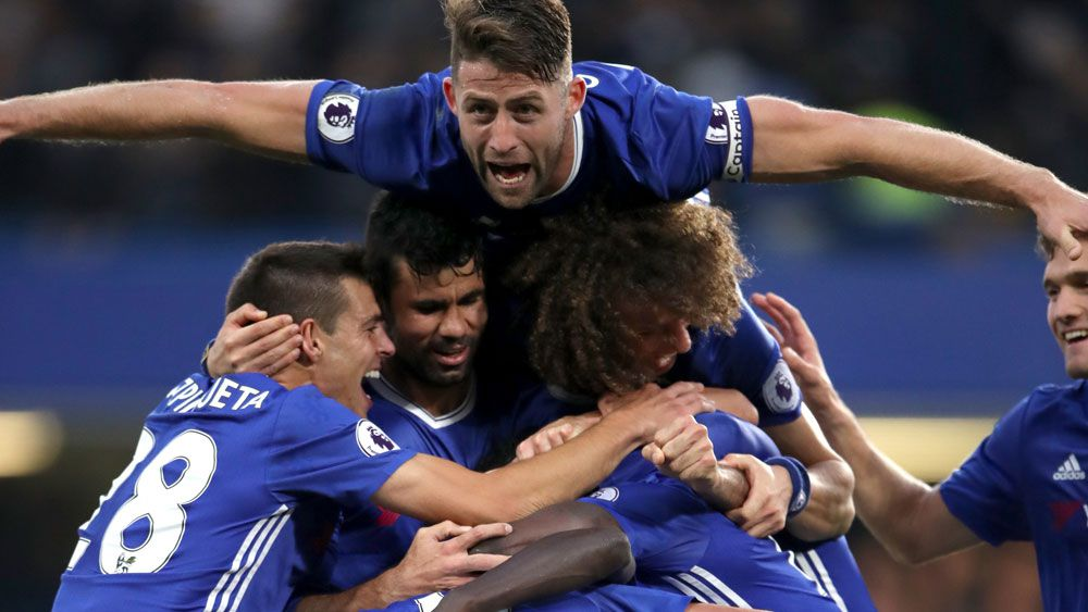 Chelsea scored a thumping 4-0 win over Manchester United. (AAP)