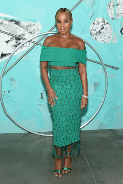 Singer Mary J. Blige attends the Tiffany Blue Book Collection launch at Studio 525 on October 9, 2018 in New York City.