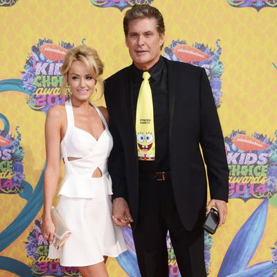 David Hasselhoff and Hayley Roberts