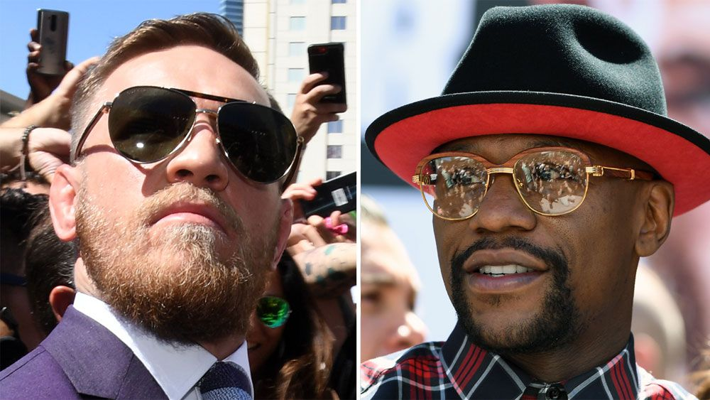 Former boxing champion Floyd Mayweather and UFC's Conor McGregor exchange barbs over weight claims