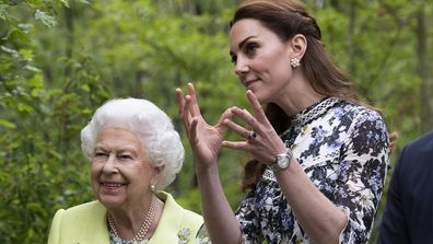Kate shows the Queen her garden display at the Chelsea Flower Show.