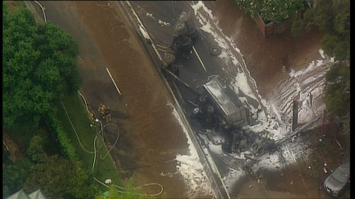 News NSW Thirroul Bulli Pass truck crash fire