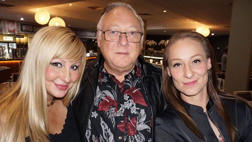 Clive Haddon and two of his daughters.