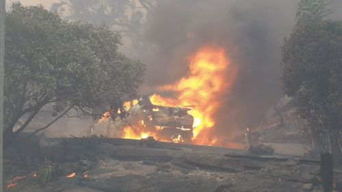 There were 21 fires that day amid sweltering 39 degree temperatures. Picture: 9NEWS