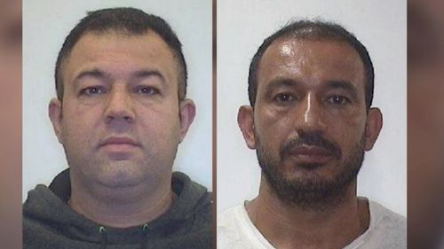 Police have released photographs of these two men wanted over the death and separate house fire.