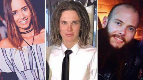 Darcey Kramme, Joshua Lavery and Brett Harvey were killed in the crash. (9NEWS)