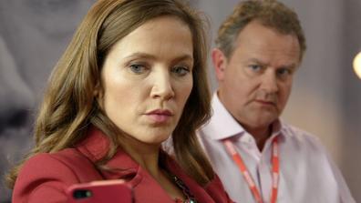 The BBC's self-parody 'W1A' stars Hugh Bonneville and Jessica Hynes.