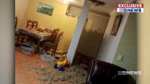 A Perth family were traumatised when an alleged burglar crashed through their roof.