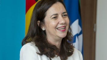 Queensland Premier Annastacia Palaszczuk speaks to media at 1 William Street about the Commonwealth Games. (AAP)