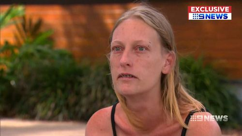 The boys' mother Tamika Frid drove from Dalby through the night to reach Brisbane. (9NEWS)