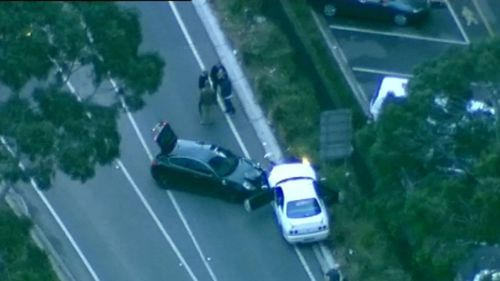 Two women and a man were seen driving in the wrong direction and crashing into cars before police stopped them. Picture: Supplied.