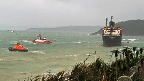 Russia cargo ship Cornwall beach