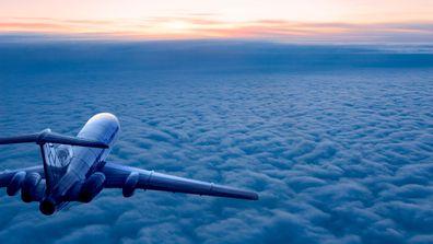 travel plane stock