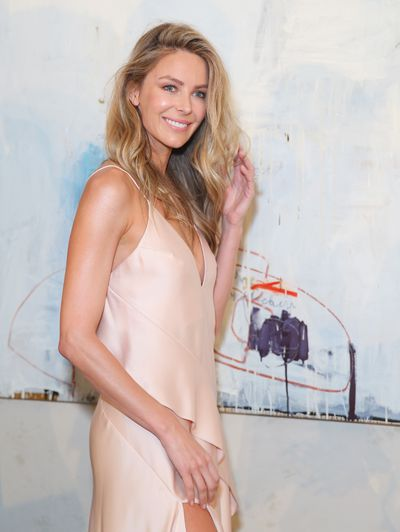 <p>Jennifer Hawkins in Acler remains Myer's top drawcard and will close tomorrow's runway show.</p>