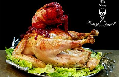 Alien chest-burster Thanksgiving turkey