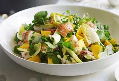 "Recipe:&nbsp;<a href=""http://kitchen.nine.com.au/2016/05/04/15/38/guillaume-brahimis-marron-with-a-salad-of-mango-endive-and-fresh-herbs"" target=""_top"">Guillaume Brahimi's marron with a salad of mango, endive and fresh herbs</a>"
