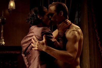 Eric (Alexander Skarsgård) seduces Talbot (Theo Alexander). Raunch!