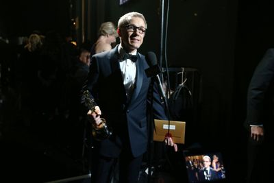 Christoph made it his second Oscar for his second time working with Quentin Tarantino, after his incredible supporting turn in Inglourious Basterds. He's now doing the double Oscar winner waltz!
