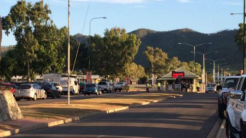 Townsville army base locked down after man found with replica gun