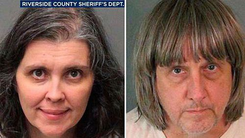 The children's parents, David and Louise Turpin, now face up to 94 years to life in prison on more than 70 charges of torture, child abuse and neglect. Picture: Supplied.