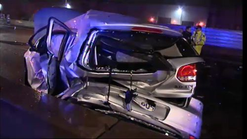 The crash occurred just metres from this morning's crash. (9NEWS)