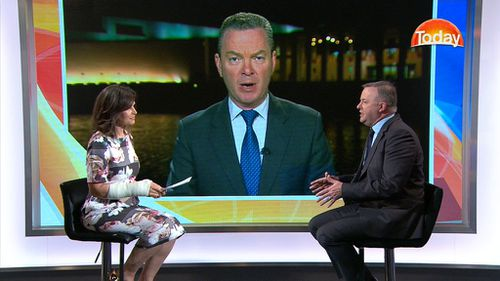 Lisa Wilkinson speaks to Anthony Albanese and Christopher Pyne. (TODAY)