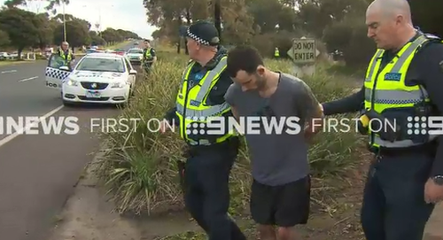 One of the arrested youths. (9NEWS)