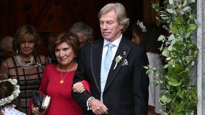 Parents Princess Ursula, Uschi of Bavaria and Metin Kaya, Guelseren Kaya and Leopold, Poldi of Bavaria during the wedding of Prince Konstantin of Bavaria and Princess Deniz of Bavaria
