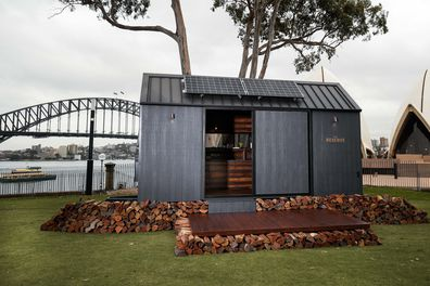 Mr McConoughey has launched an off-grid cabin he co-designed with Wild Turkey's charity initiative, With Thanks.(Photo by Brendon Thorne/Getty Images for Wild Turkey)