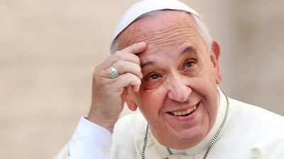 """Pope Francis endorsed the Theory of Evolution and the Big Bang as likely possibilities – albeit happenings that had some divine influence.  """"When we read about creation in Genesis, we run the risk of imagining God was a magician, with a magic wand able to do everything. But that is not so,"""" Francis told the Pontifical Academy of Sciences (Getty Images)."""