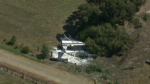 The plane crashed just before 11am in Tooradin.
