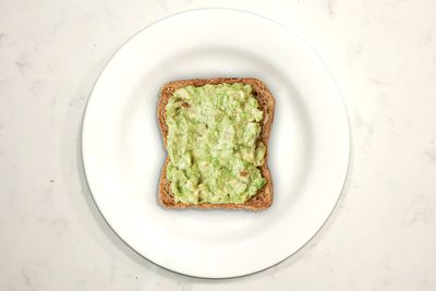 Avocado on toast: 157 calories