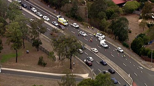 Windsor Road was temporarily closed following the crash. (9NEWS)