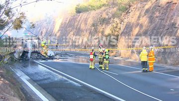 The crash shut down all northbound lanes on the Old Hume Highway.