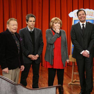 Jerry Stiller, Ben Stiller, Anne Meara and Jimmy Fallon: 2010