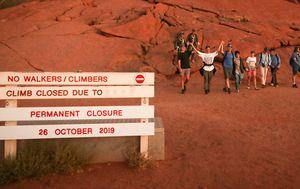 Uluru wakes to a new dawn as climbing finishes
