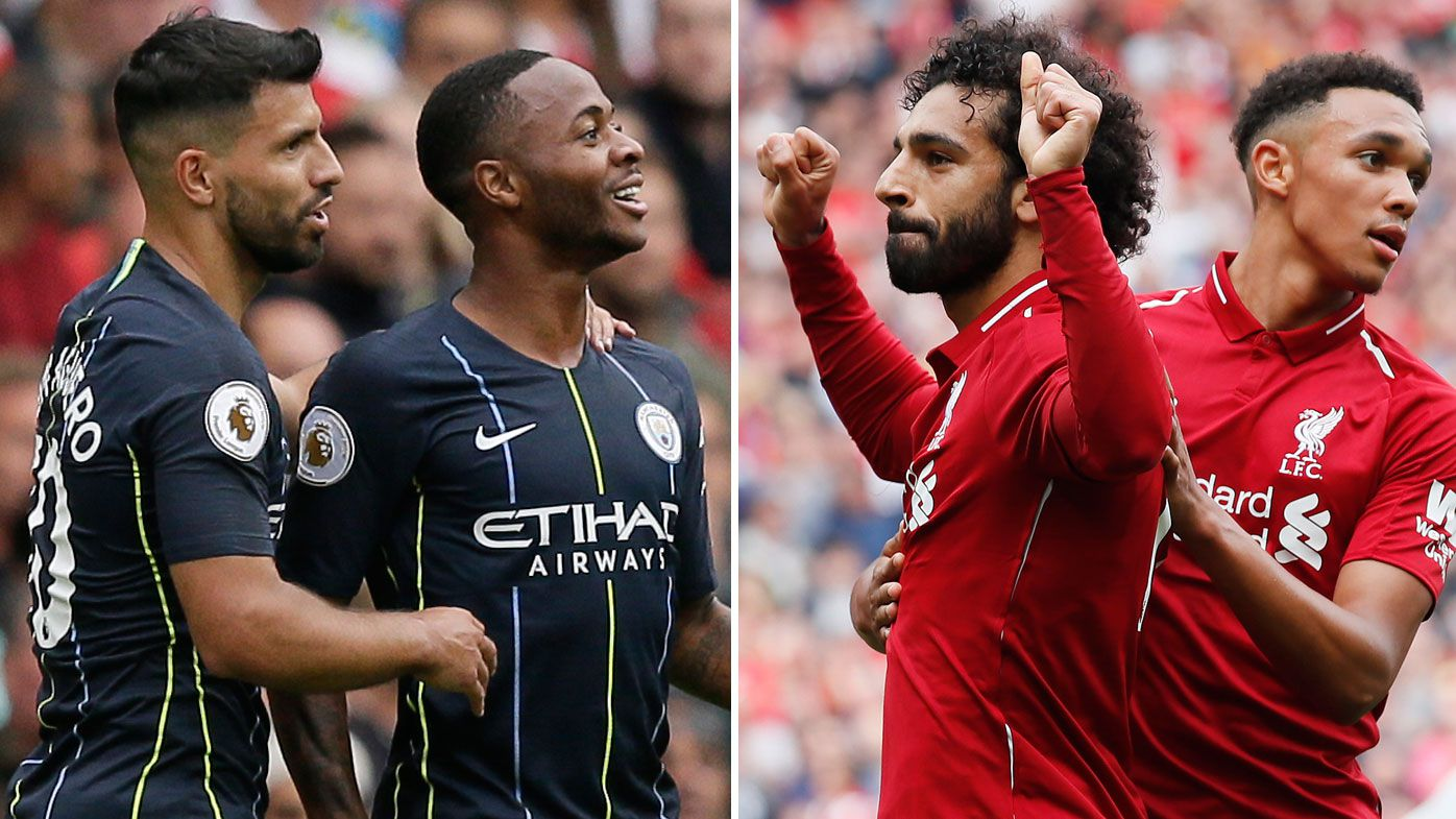 Manchester City and Liverpool put down English Premier League markers