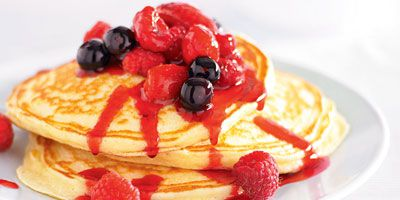 Mixed berry ricotta pancakes