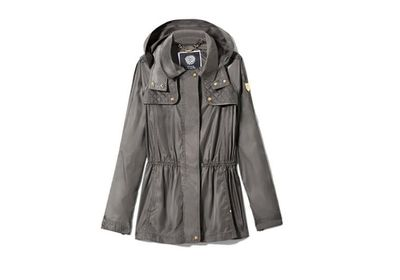 """<a href=""""http://www.vincecamuto.com/vince-camuto-hooded-reflective-anorak/K8511.html"""" target=""""_blank"""">Anorak, $223, Vince Camuto</a>"""