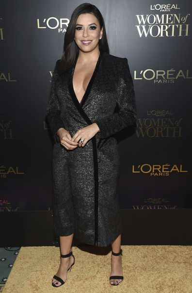 Eva Longoria attends the L'Oreal Women of Worth Awards at the Pierre Hotel on Wednesday, Dec. 6, 2017, in New York.
