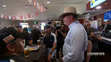 Barnaby Joyce unofficially launching campaign at Tamworth pub