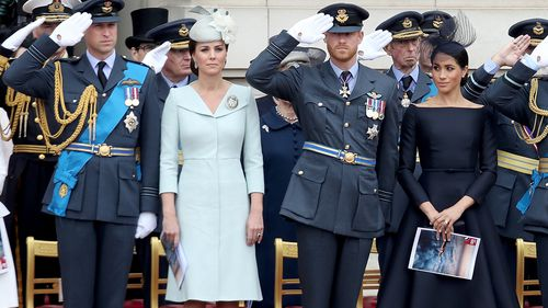 The Duke and Duchess of Cambridge and the Duke and Duchess of Sussex were there. Picture: Getty