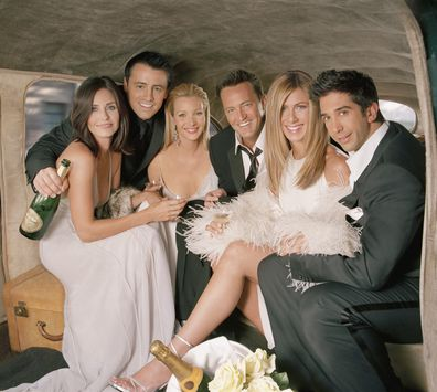 Friends, cast, Courteney Cox, Matt LeBlanc, Lisa Kudrow, Matthew Perry, Jennifer Aniston, David Schwimmer
