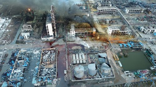 China's chemical plant safety has come under scrutiny after the latest explosion occurred, killing 44 people and seriously injuring at least 90 people, in Xiangshui county, Yancheng city, east China's Jiangsu province.