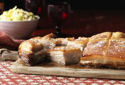 Roast Asian pork belly