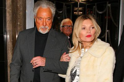 At this month's British Fashion Awards, Sir Tom Jones likely won the award for biggest makeup misstep. The 73-year-old singing legend looked HIGHLY unusual as he stepped out to party with Kate Moss after the ceremony. Tip: consider coordinating skin colour with your date.