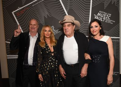 Michael Gudinski,  Kylie Minogue, Ian 'Molly' Meldrum and Tina Arena